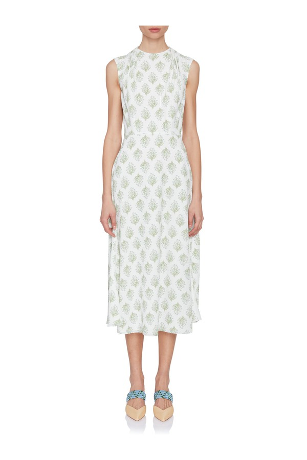 a8acee78a1 Dolora Draped Floral Dress by Emilia Wickstead at ORCHARD MILE