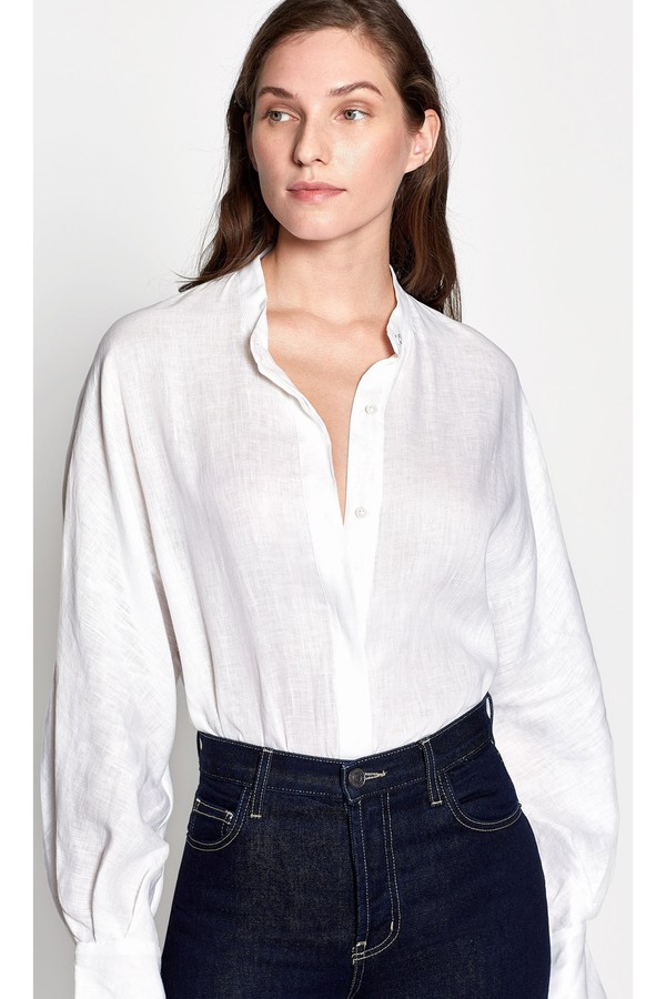 707041540367df Sedaine Linen Shirt by Equipment at ORCHARD MILE