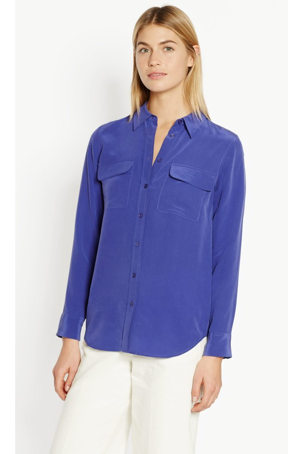 0581392a445256 Slim Signature Silk Shirt by Equipment at ORCHARD MILE