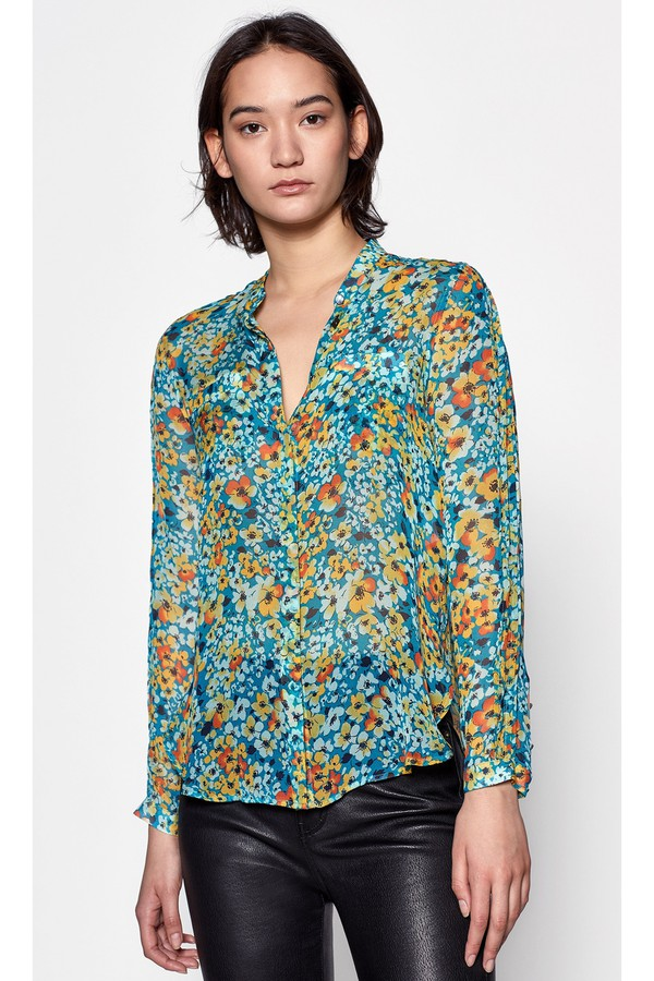 72e8f26356fda2 Ethel Silk Shirt by Equipment at ORCHARD MILE