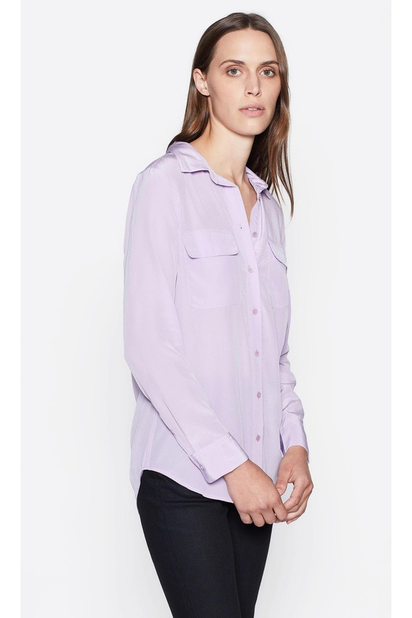 63bcc9835ddc1e Slim Signature Silk Shirt by Equipment at ORCHARD MILE