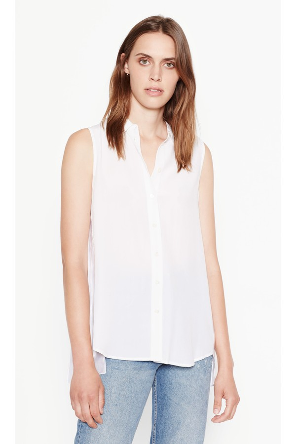 fdd6ea9e1c8884 Sleeveless Slim Signature Silk Shirt by Equipment at ORCHARD MILE