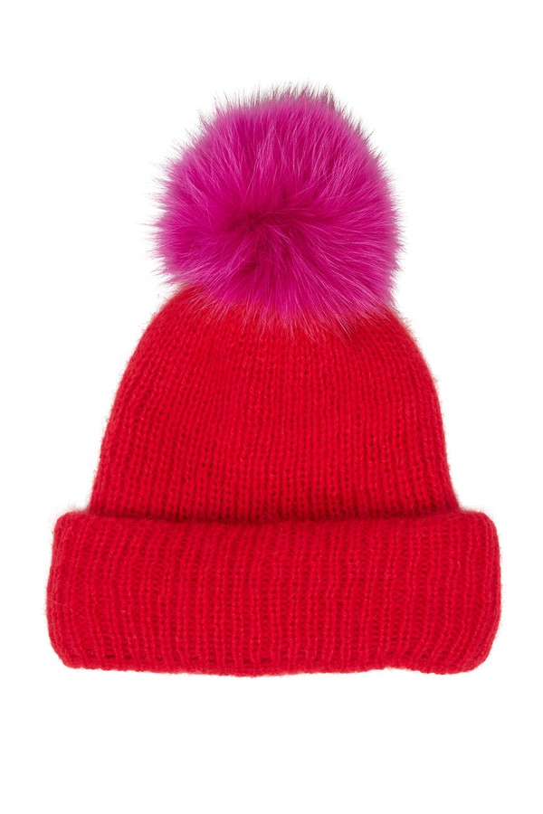 baeb3daf Maddox Red Pom Pom Beanie by Eugenia Kim at ORCHARD MILE