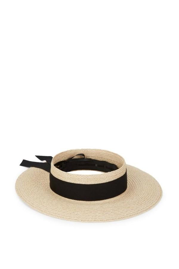3b071f107 Lettie Grosgrain-Trimmed Faux Raffia Hat