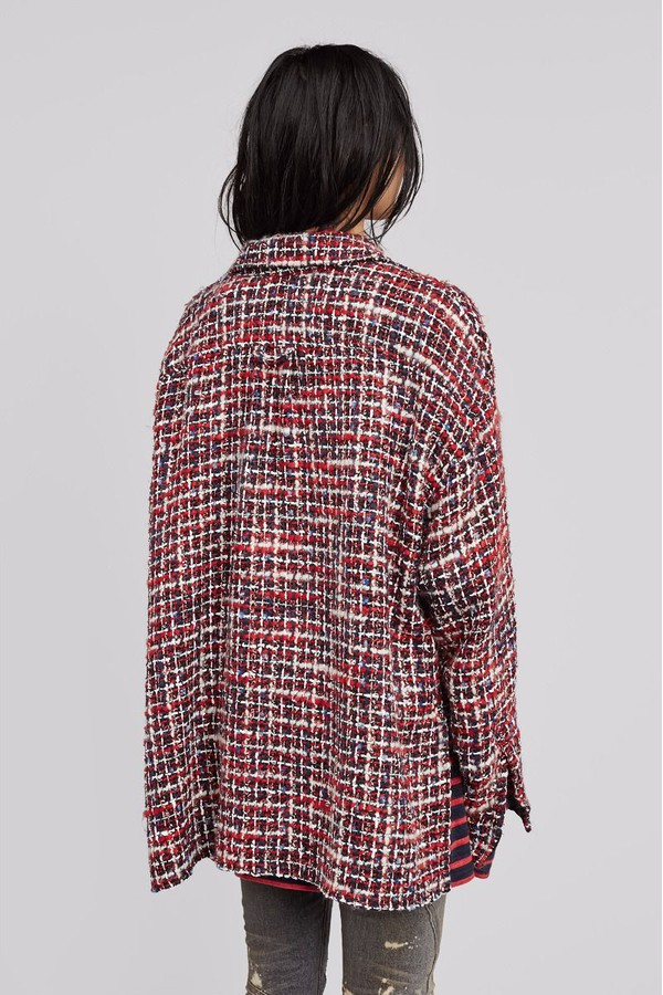 92c38dcd6fa Tweed Jewel Oversized Shirt by Faith Connexion at ORCHARD MILE