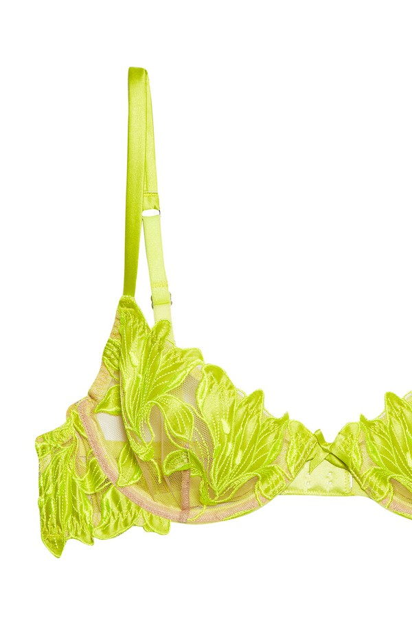 5541836a7f Lily Embroidery Plunge Demi Bra by Fleur du Mal at ORCHARD MILE