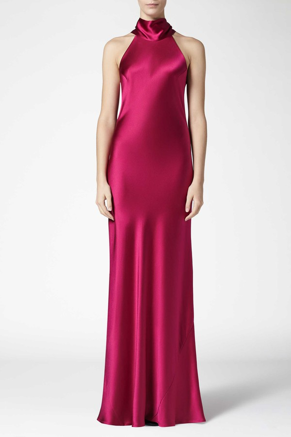 Asymmetrical Bias Cut Dress by Galvan at ORCHARD MILE