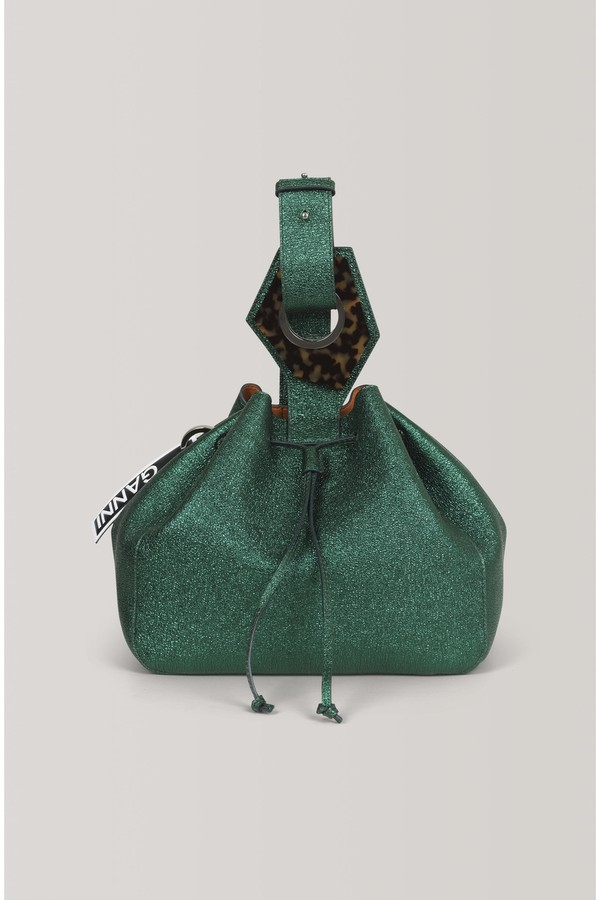 3f1f411f2c1c Leather Large Drawstring Bag by Ganni at ORCHARD MILE
