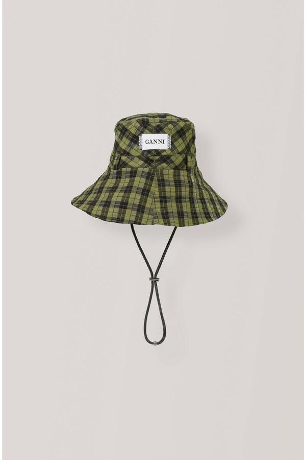 e3147a069f45e Seersucker Check Accessories Hat by Ganni at ORCHARD MILE