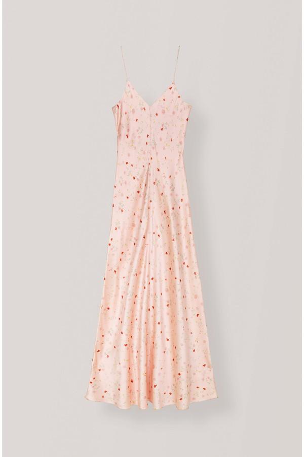 73b4bedb9c9f Silk Stretch Satin Slip Dress by Ganni at ORCHARD MILE