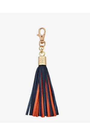 Gigi New York Tassel Bag Charm In Green And Yellow Green and yellow 5XP834x