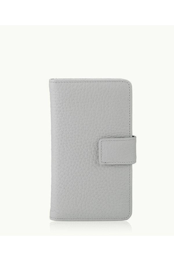 fce9e9278c4f5 Iphone 6 6S Wallet Case In Grey Pebble Grain by Gigi New York at...