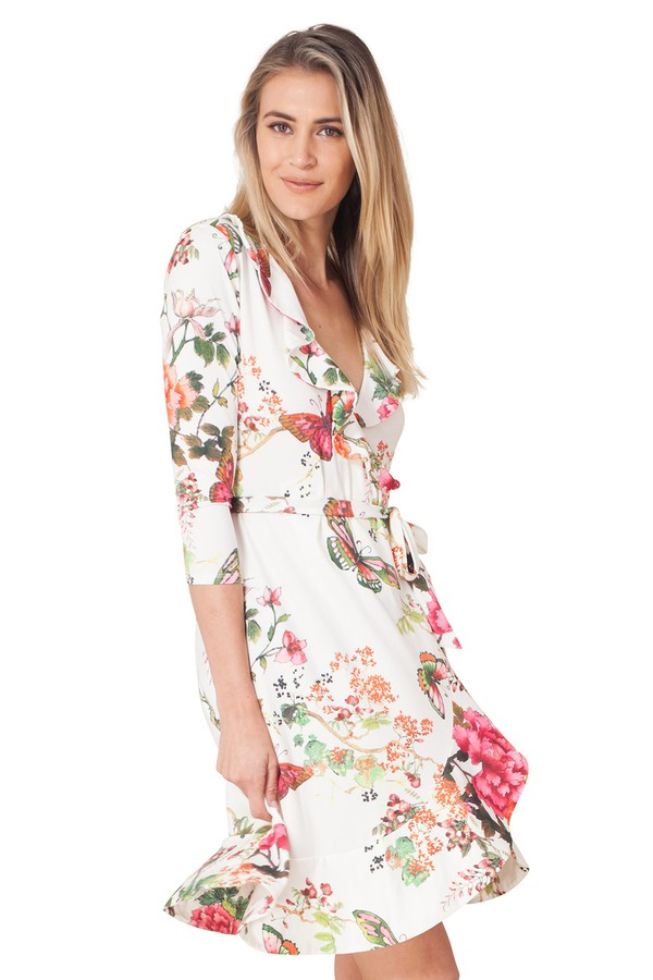 32361f2a74dff5 Janelle Wrap Jersey Dress by Hale Bob at ORCHARD MILE