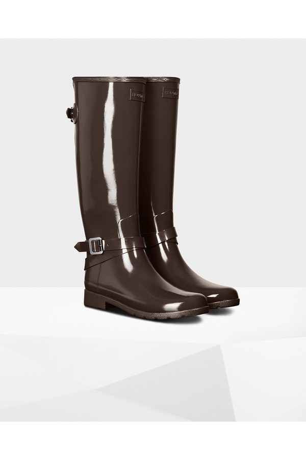 1b029311a3600 Women's Refined Adjustable Tall Gloss Rain Boots by Hunter at...