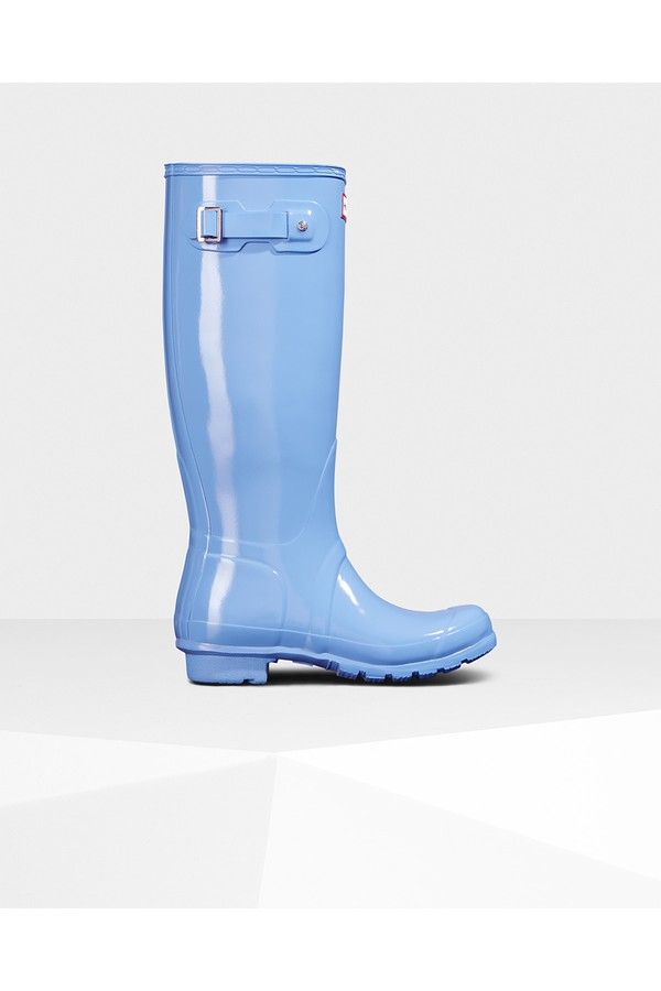 62379633140425 Women s Original Tall Gloss Rain Boots by Hunter at ORCHARD MILE