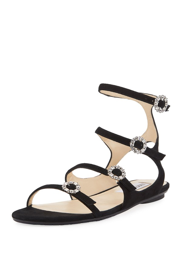 Naia flat sandals with crystal buckles Jimmy Choo London Outlet Cheap iQ5Jd8hX