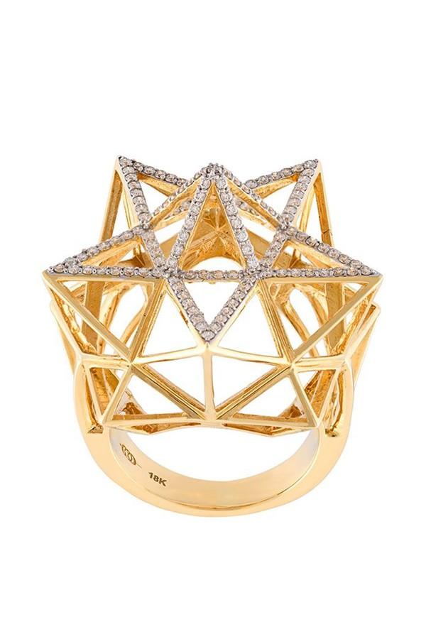 John Brevard Framework Star Gold Ring XjoDkD