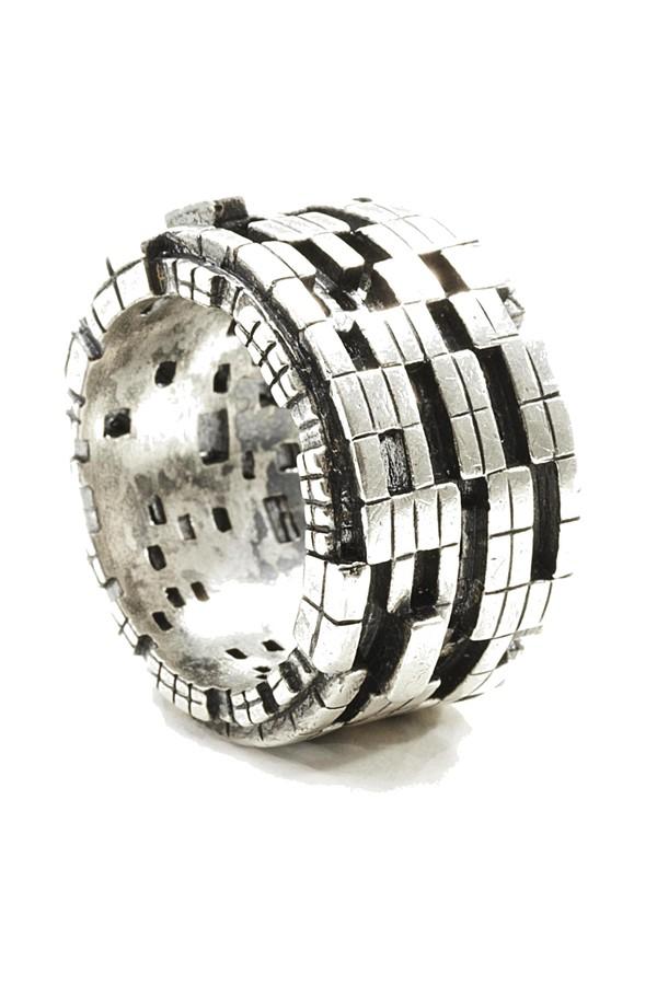 John Brevard Fractality Ruby Cubes Silver Ring rQk3mqN