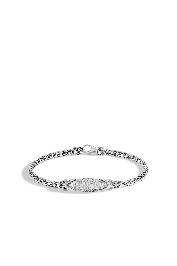 168177e30 Asli Classic Chain Link Station Bracelet With Diamond by John...