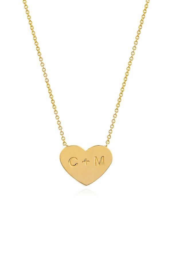 Johnny Was 14K Gold Custom Large Golden Heart With Star Set Diamond Gold CxO5cSuIr