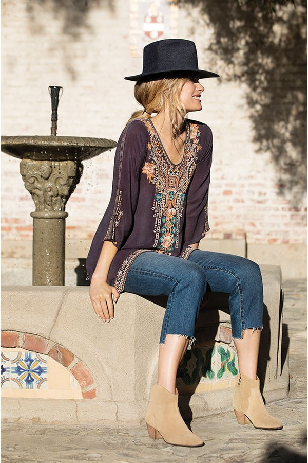Mikaela Eyelet Tunic Plus Size By Johnny Was At Orchard Mile