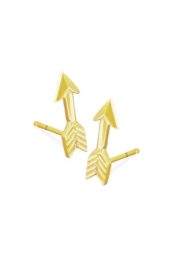 Johnny Was Arrow - Love Struck Stud Earrings Gold 4FSAVi