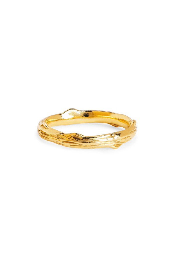 Johnny Was 14K Gold Rose Thorn Band With Single Ruby Gold S2tyCHm