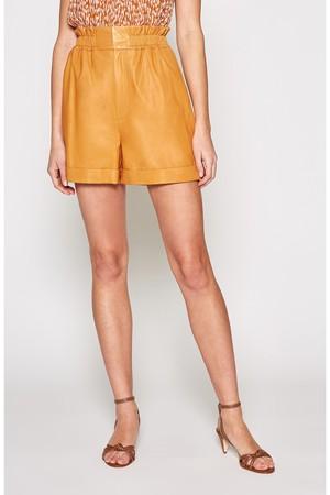 08d67ae06d Mini Shorts In Lamé Waffle Fabric by Saint Laurent at ORCHARD MILE