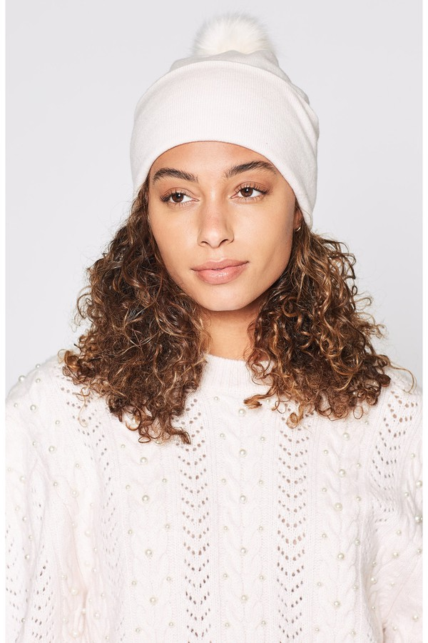 5fb1ad68dae Knit Cap With Pom Pom - Sesame by Eric Javits at ORCHARD MILE