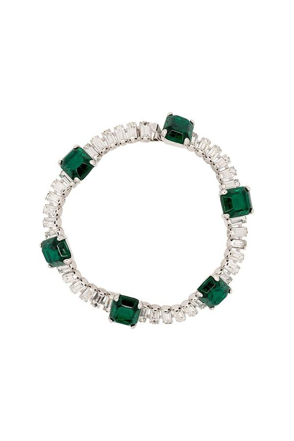 Kenneth Jay Lane Multi-Green Coil Snake Bracelet Multi green zeDnxWfV1