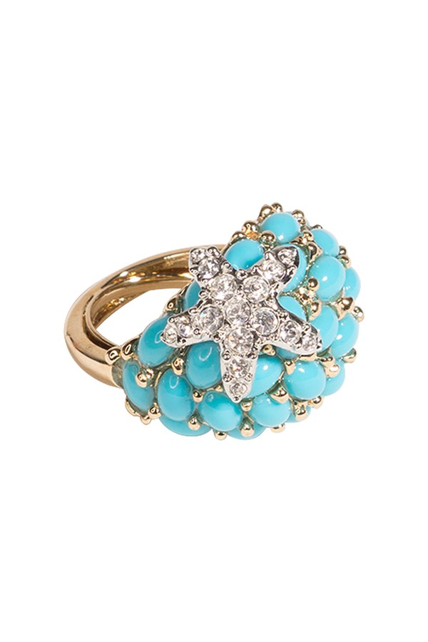 Johnny Was Feather Ring With Turquoise Bezel lelM1Y1