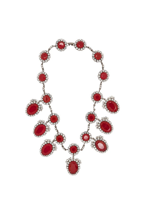 Kenneth Jay Lane Ruby Stationed Necklace Ruby IXilcsIx