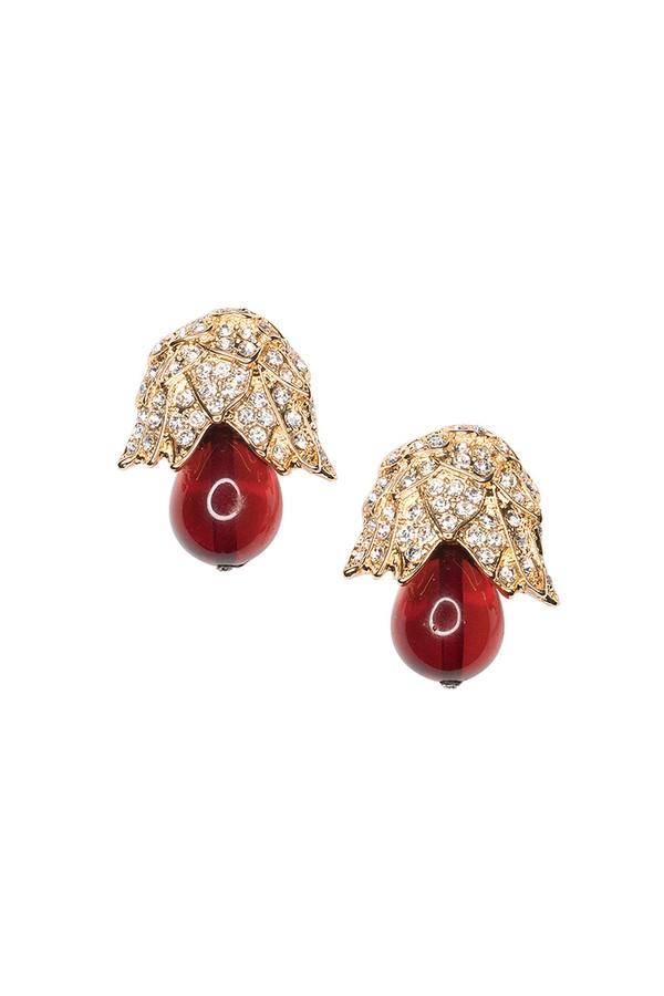 Kenneth Jay Lane Black And Ruby Clip Earring Black/ruby 6sjcXtF