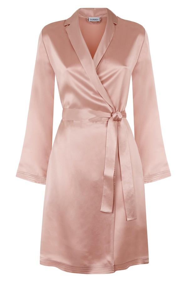Silk Powder Pink Silk Short Robe by La Perla at ORCHARD MILE 29a3cb47e