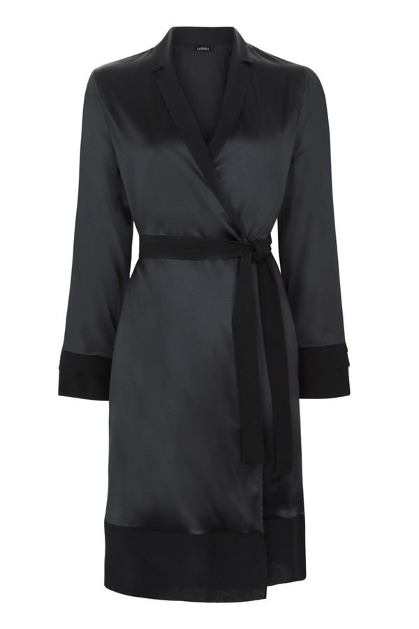 Silk Essence Short Dressing Gown by La Perla at ORCHARD MILE