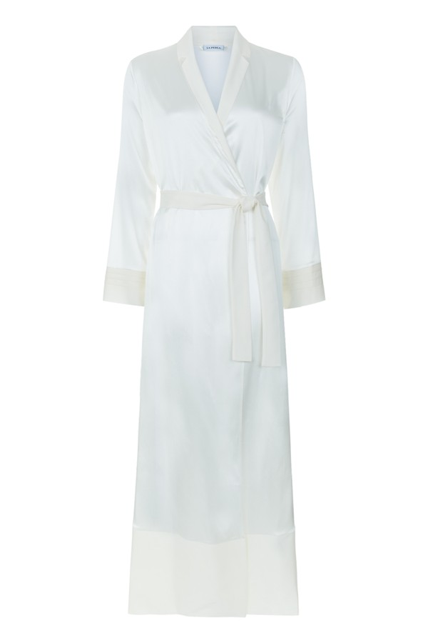 Silk Essence Long Dressing Gown by La Perla at ORCHARD MILE