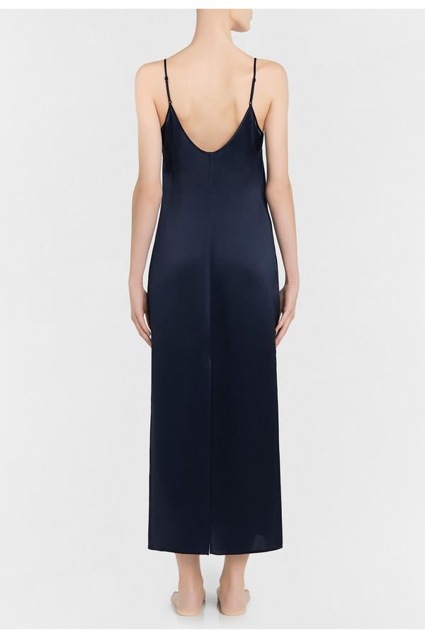 09351f39e1f8 Silk Midnight Blue Silk Long Slip by La Perla at ORCHARD MILE