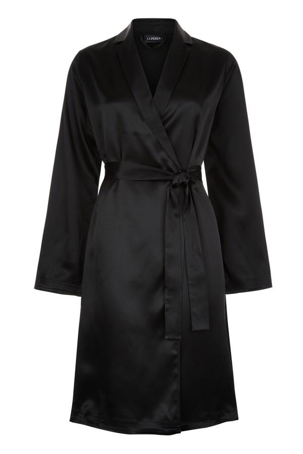 Silk Essence Short Dressing Gown by La Perla at ORCHARD MILE adb951551