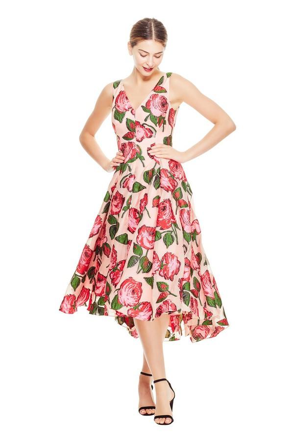 6552072ac15 Rose Fil Coupé V-Neck Dress by Lela Rose at ORCHARD MILE