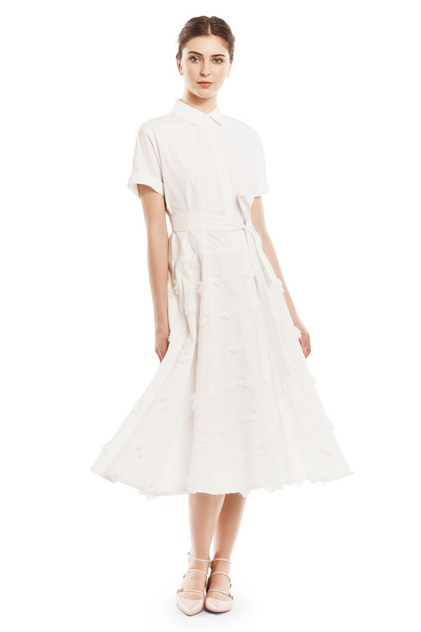 Lela rose cotton shirt dress