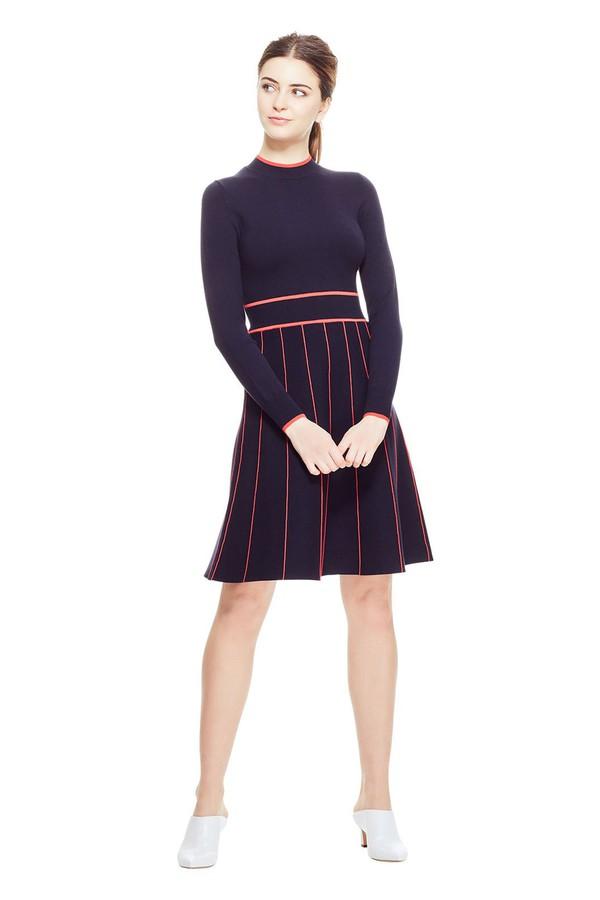f09889072e7 Linear Stripe Long Sleeve Knit Dress by Lela Rose at ORCHARD MILE