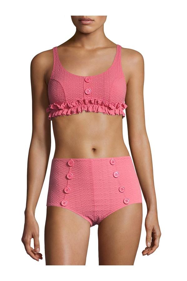 Go girly in pink ruffles in Lisa Marie Fernandez like Kendall