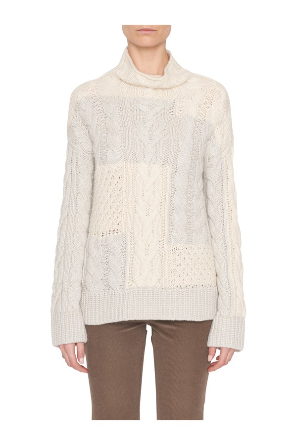 df66415cbb49 Gray Baby Cashmere Cable-Knit Sweater by Loro Piana at ORCHARD MILE