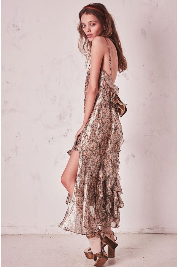 6d45343cc3e9 Kate Ruffle Slip Dress by LoveShackFancy at ORCHARD MILE