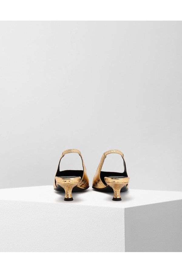 c7fb15d9acd Crinkled Leather Slingback Pumps by Maison Margiela at ORCHARD MILE