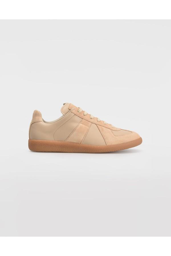 92613385d0e Calfskin And Suede Replica Sneakers