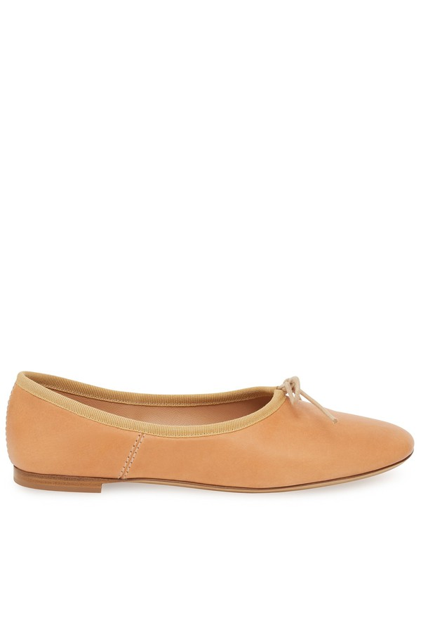 1cf2f9b0db Vegetable Tanned Ballerina - Cammello by Mansur Gavriel at ORCHARD...
