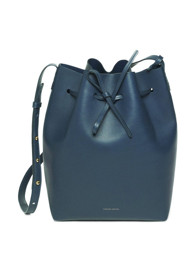 66090711ff93 Calf Bucket Bag - Blu by Mansur Gavriel at ORCHARD MILE