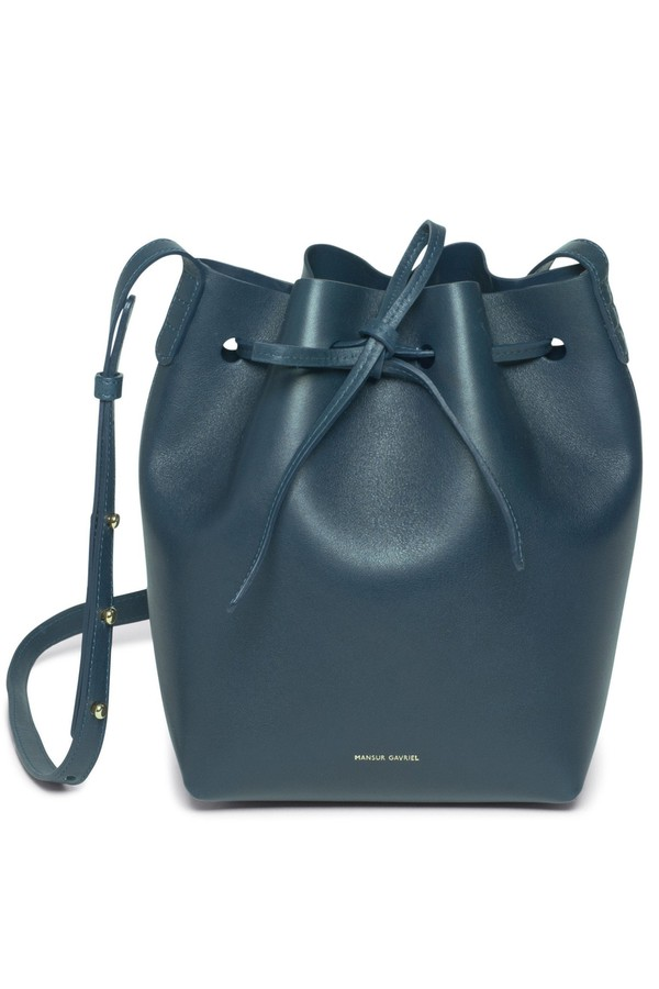 e264e6011025 Calf Mini Bucket Bag - Blu by Mansur Gavriel at ORCHARD MILE