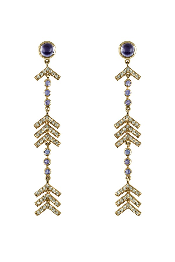 Marlo Laz Full Circle 14K Gold Earrings C8wfrxhpoC